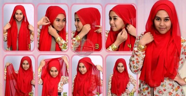 Tren Hijab 2015 Hijaber Pakai Warna Merah Menyala Siapa Takut