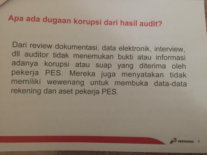 Keterangan Pertamina soal Audit Petral