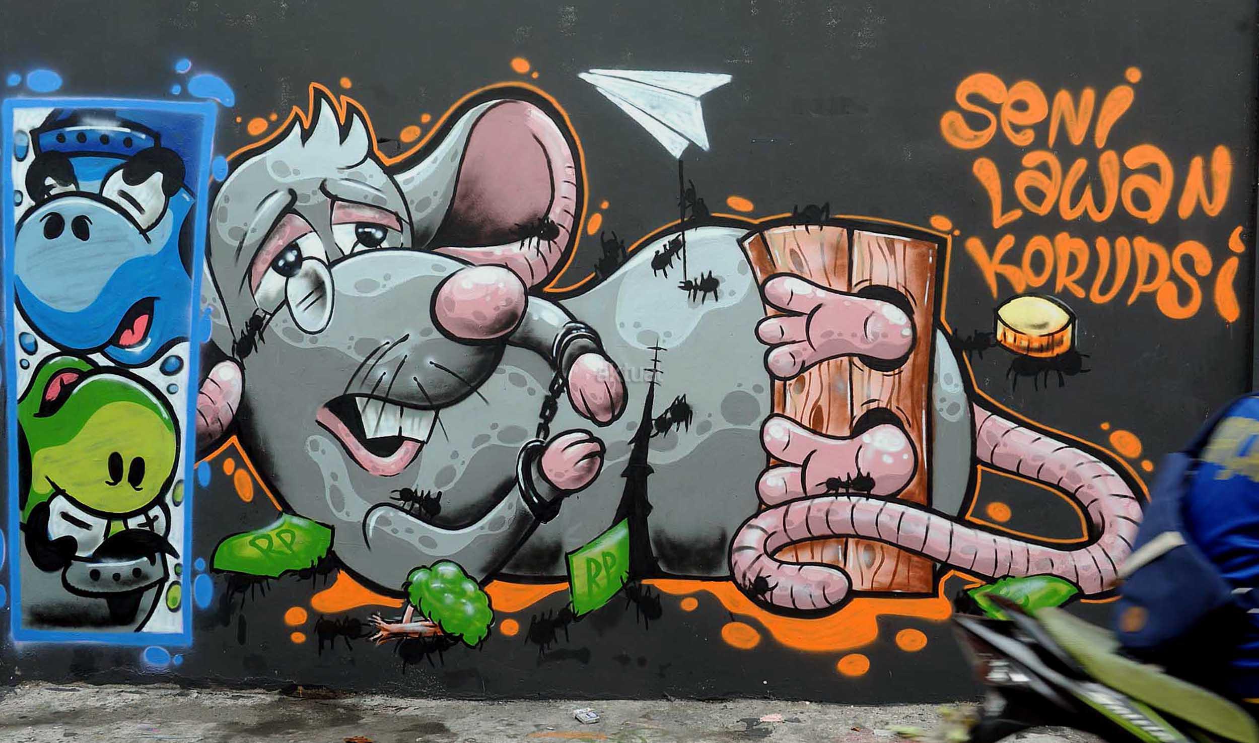 Mural lawan korupsi aktual com terhangat terpercaya for Mural indonesia