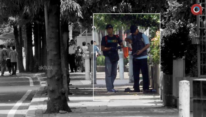 Pelaku Teror Bom dan Penembakan Sarinah (Foto: Tino Oktaviano)
