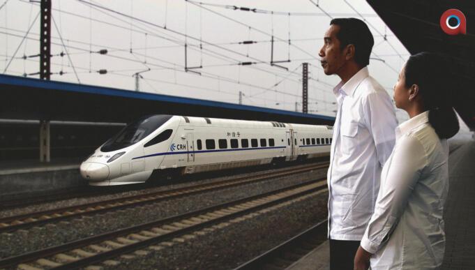 Megaproyek Kereta Api Cepat Jakarta-Bandung (Aktual/Ilst.Nlsn)