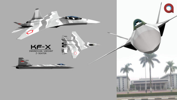 jet tempur Indonesia Fighter Xperiment (IFX) 4.5 Generation