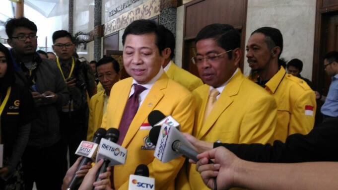 Setya Novanto Saat Menghadiri Rapimnas Partai Golkar di JCC Senayan