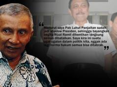 Ketua Dewan Pertimbangan Partai Amanat Nasional (PAN) Amien Rais - Luhut Binsar Pandjaitan setujui proyek reklamasi Teluk Jakarta dilanjutkan.(ilustrasi/aktual.com)