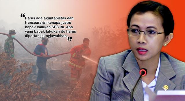 Anggota Komisi III DPR RI, Erma Ranik - SP3 Karhutla Tak Transparan. (ilustrasi/aktual.com)