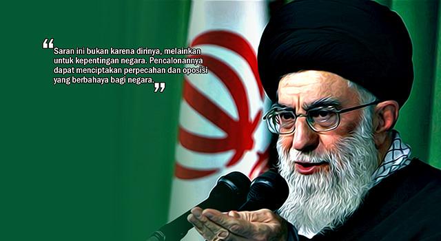Ayatollah Ali Khamenei. (ilustrasi/aktual.com)