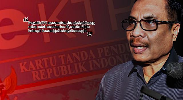 Irman, Staf khusus Menteri Dalam Negeri ditetapkan sebagai tersangka oleh KPK dalam kasus dugaan korupsi proyek pengadaan e-KTP tahun anggara 2011-2012. (ilustrasi/aktual.com)