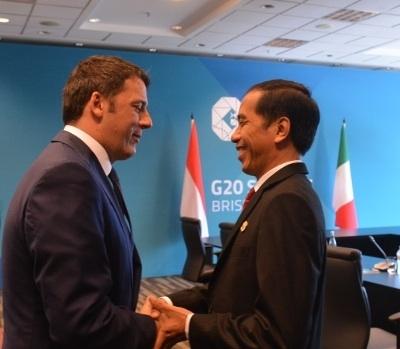 Jokowi Bertemu PM Italia Matteo Renzi saat KTT G20 di China (istimewa)