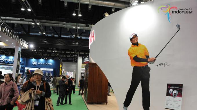 Promo wisata golf Kementerian Pariwisata di Tiongkok. (Foto: lifestyle.harianterbit.com)
