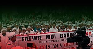 Massa 'Aksi Bela Islam' berunjuk rasa menuntut Gubernur DKI Basuki Tjahaja Purnama segera diproses hukum kasus dugaan penistaan agama. (ilustrasi/aktual.com)
