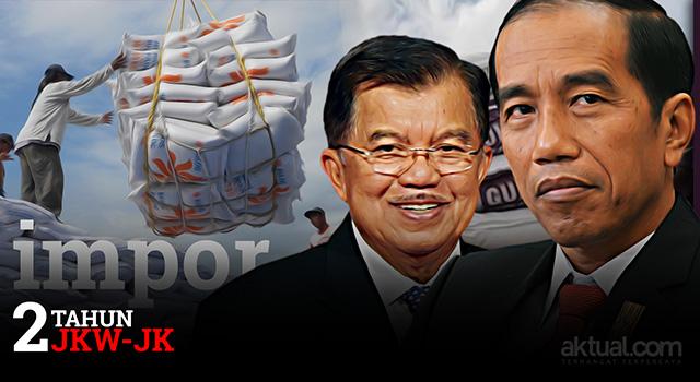 Dua tahun pemerintahan Joko Widodo-Jusuf Kalla - Impor bahan pangan. (ilustrasi/aktual.com)