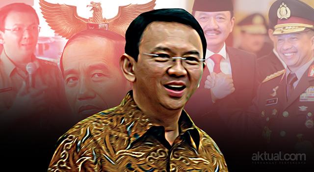 Lima Indikator Pemenangan Ahok: Dari Istana, Polri Hingga BIN. (ilustrasi/aktual.com)