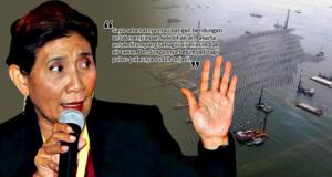 Pandangan berbeda Menteri Keluatan dan Perikanan, Susi Pudjiastuti ihwal tujuan proyek reklamasi pantai utara Jakarta. (ilustrasi/aktual.com)