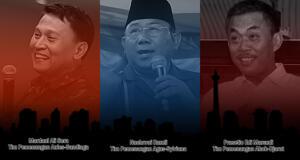 TIm Pemenangan 3 Pasangan Calon Pilkada DKI 2017. (ilustrasi/aktual.com)