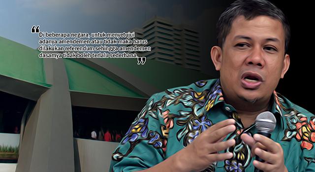 Wakil Ketua DPR Fahri Hamzah - Amendemen UUD 1945. (ilustrasi/aktual.com)