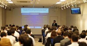 Mirza Adistyawara saat Menjadi Pembiacara BI dalam sebuah diskusi di Jepang