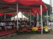 Peringatan Hari Santri Nasional di Tugu Monas (Foto: Fadlan Syiam Butho)