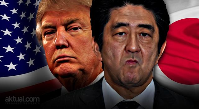Presiden Amerika Serikat Donald Trump - Perdana Menteri Jepang Shinzo Abe. (ilustrasi/aktual.com)