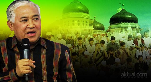 Ketua Dewan Pertimbangan Majelis Ulama Indonesia Din Syamsudin - Umat Islam dalam pembangunan Indonesia. (ilustrasi/aktual.com)