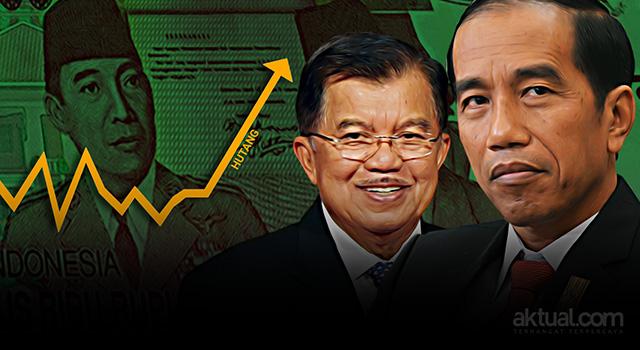 Pemerintahan Joko Widodo-Jusuf Kalla - Hutang. (ilustrasi/aktual.com)