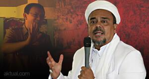 Pimpinan Gerakan Nasional Pembela Fatwa Majelis Ulama Indonesia Habib Rizieq Syihab - Ahok yang Harus Dijadikan Tersangka. (ilustrasi/aktual.com)