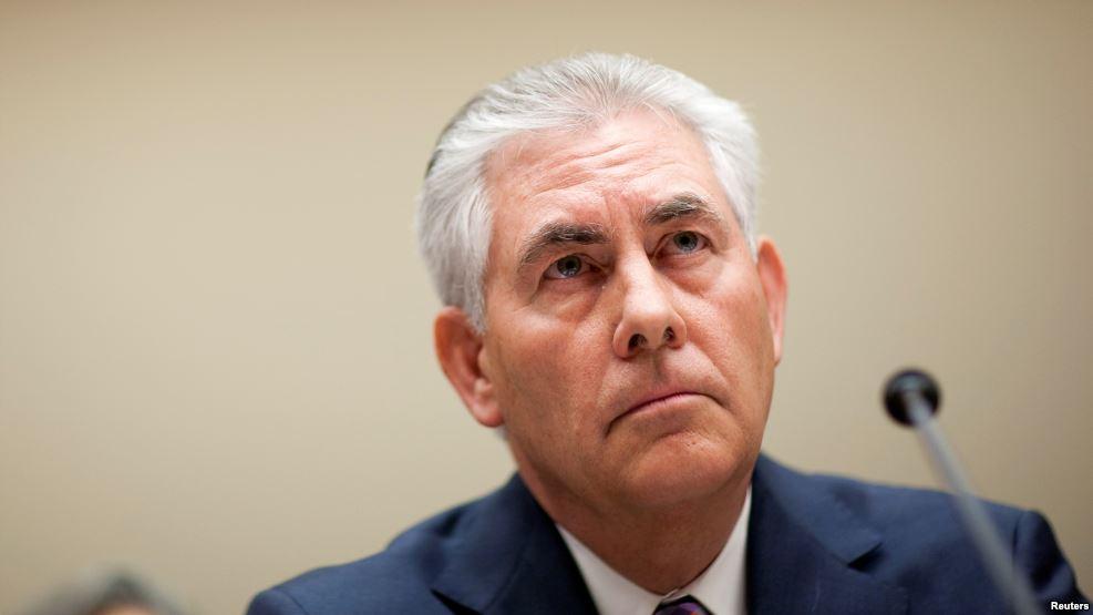 CEO ExxonMobil, Rex Tillerson, Menlu AS,