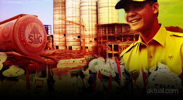Gubernur Jawa Tengah Ganjar Pranowo menerbitkan izin baru pabrik semen di Rembang. (ilustrasi/aktual.com)