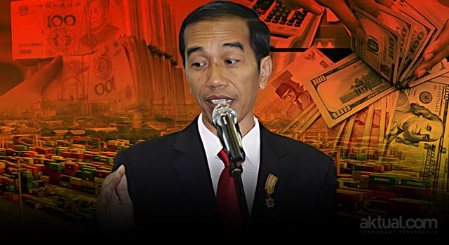 Presiden Joko Widodo - Wacana pemindahan acuan mata uang (kurs) dari Dollar ke Yuan. (ilustrasi/aktual.com)