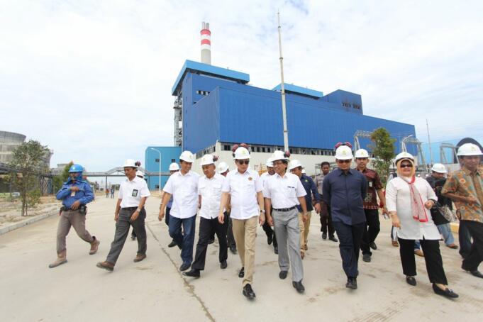 Menteri ESDM Ignatius Jonan Kunjungi PLTU Tenayan