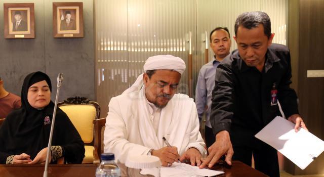 Imam Besar FPI Rizieq Syihab. AKTUAL/Tino Oktaviano