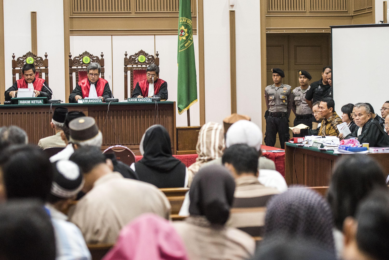 Suasana Sidang Lanjutan Kasus Dugaan Penistaan Agama Di Auditorium