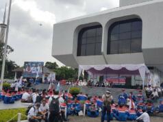 Aksi Massa FSPPB Menyegel Gedung Pusat Pertamina, Rabu (1/3)