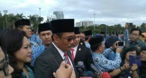 Djarot Saiful Hidayat usai pimpin upacara Hari Lahir Pancasila 1 Juni 2017