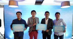 George Zhi-Group CEO WeCash, James Chan - CEO TunaiKita, Andri Huzain-COO, Suryandy Jahja-Managing Director PT Kresna Graha Investama,Tbk