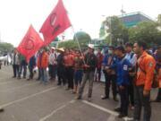 Aksi BEM demo Hak Anget