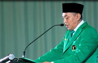 Ketua Steering Committee Musyawarah Kerja Nasional (Mukernas) II PPP dan Bimbingan Teknis (Bimtek) Anggota DPRD, Iskandar Syaichu saat memberikan sambutan. (Foto: Aktual/Warnoto)