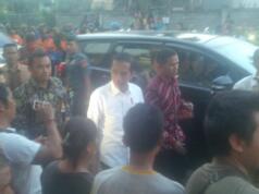 Jokowi ke Pengungsian Gunung Agung (Aktual/Bobby Andalan)