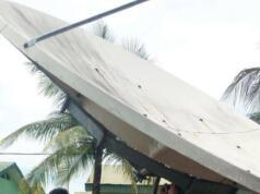 Proses repointing antenna ground segment oleh teknisi Telkom di salah satu site di Lhokseumawe, Aceh (Foto: Dok Telkom)