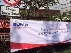 Posko Siaga TelkomGroup Bencana Erupsi Gunung Agung di lokasi Kantor Telkom Klungkung untuk menjaga kualitas layanan telekomunikasi TelkomGroup, baik layanan fixed broadband maupun seluler.