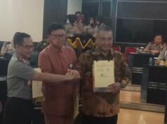 Tito Karnavian dengan Menteri Dalam negeri Tjahajo Kumolo