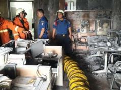 Kebakaran komplek DPR (Foto: Istimewa)