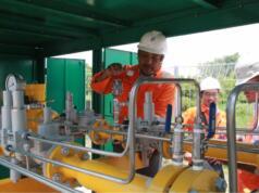 PT Perusahaan Gas Negara (Persero) Tbk. (PGN) pada Selasa (06/03) pukul 12.15 WIB resmi menyalurkan gas bumi perdana (initial gas in) ke Kawasan Industri Java Integrated Industrial and Port Estate (JIIPE) di Gresik, Jawa Timur. Penyaluran perdana tersebut diterima oleh PT Berkah Kawasan Manyar Sejahtera (BKMS) sebagai pengelola Kawasan Industri JIIPE.
