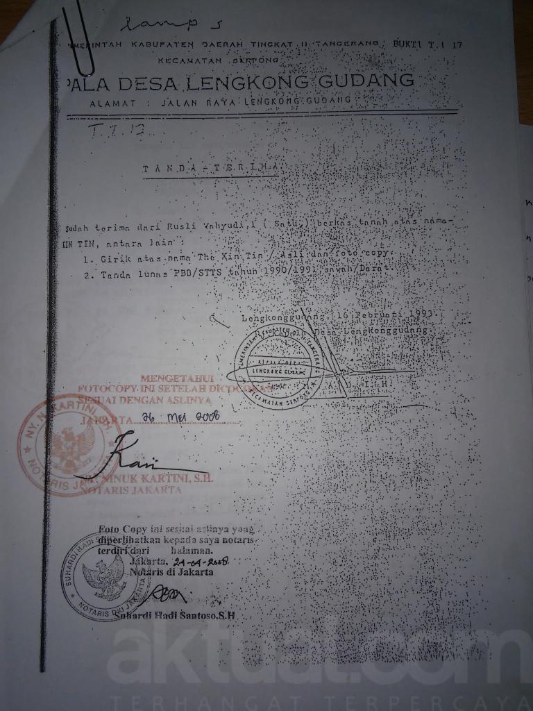 Reformasi Agraria Ala Jokowi Kasus Sengketa Lahan Bsd City