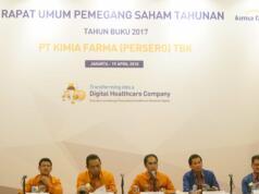RUPS Kimia Farma di Jakarta, Kamis (19/4) menyetujui untuk membagikan deviden sebesar Rp98 Miliar.