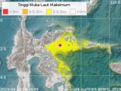 Gempa 6,9 SR Guncang Banggai Kepulauan Sulteng, Peringatan Dini Tsunami