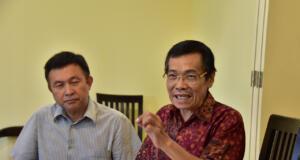 Direktur PT. Mutiara Sulawesi (MS) Ernes Ibrahim Talendeng dan Karna Brata Lesmana