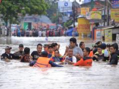 Banjir yang terjadi di Jakarta pada (1/1) lalu (Foto: ANTARA)