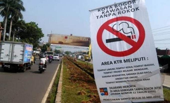 Kawasan Tanpa Rokok di Kota Bogor. (Foto:Antara)