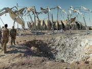 Pangkalan militer al-Asad Irak luluh lantak dihujani rudal Iran pada 8 Januari lalu. Foto/Istimewa