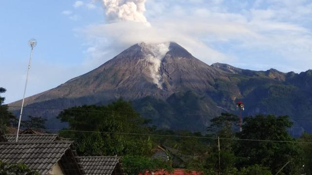 Ilustrasi Gunung Merapi. (Foto: Humas BNPB)